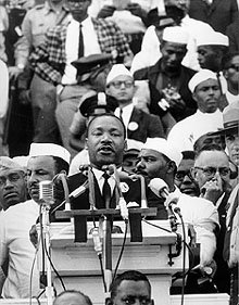 Delivering the I Have A Dream Speech in Washington DC just Behind Dr. King&#039;s right shoulder is Jersey City Police Officer Charles Jackson, who served as security coordinator for the event.